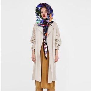Zara Spring Maxi Belted Trenchcoat